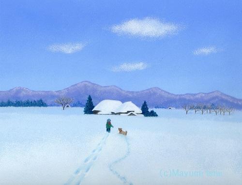 「雪の朝」